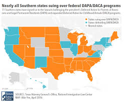 Southern States Map by Southern States Blocking Deportation Relief Are Home To A Million