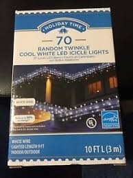 twinkling white led icicle lights holiday time christmas 70 random twinkle cool white led icicle