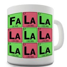 Periodic Table Mug Twisted Envy Periodic Table Fa La La La La Ceramic Mug Ebay