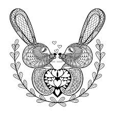 hand drawn lovely rabbit for st valentine u0027s day in doodle