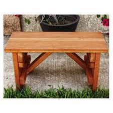 best redwood backless picnic table bench walmart com