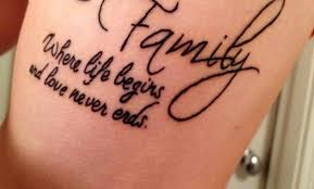 family where begins and never ends tatouage mon