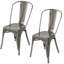 Tolix Bistro Chair Designer Modern Tolix Dining Chair 2 Gunmetal Chairs