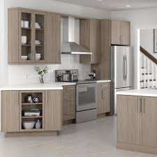 home depot kitchen wall cabinets with glass doors hton bay designer series edgeley assembled 30x42x12 in