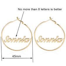 hoop earrings with name online shop duoying circle name earrings 45 mm hoop earrings for