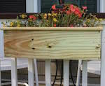 deck rail planter box woodworking plans and information at