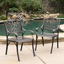 Cast Aluminum Patio Chairs Calandra Patio Furniture Cast Aluminum Outdoor