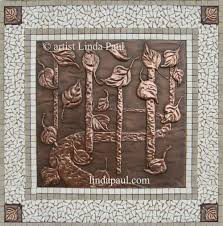 kitchen backsplash accent tile falling leaves backsplash medallion tile accents