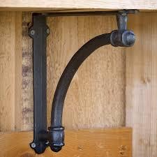 Shabby Chic Shelf Brackets by Farmhouse Style Iron Shelf Brackets Add Casual Charm To Your Open