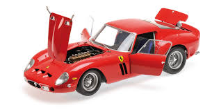 ferrari 250 gto 1962 rouge kyosho 8437r miniatures minichamps