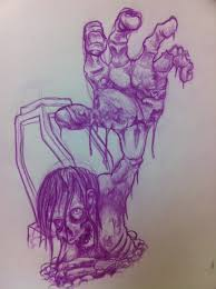 sketch for a heaven hell sleeve chagotattoos