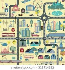 seamless pattern creator great city map element creator seamless stock vector 326134307