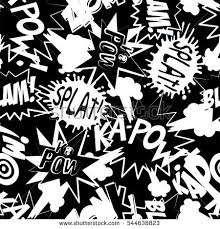 pattern design words comic book action words seamless pattern stock photo photo vector