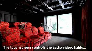 home theater doors a custom home theater system with crestron control and motorized