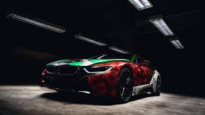 Bmw I8 Drift - joker themed bmw i8 is a seriously sinister work of art