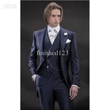wedding groom new design morning style navy blue groom tuxedos groomsmen men s