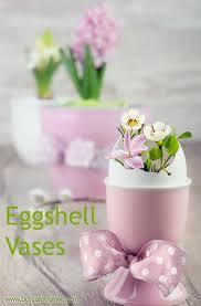 Miniature Flower Vases Easter Eggshell Decor Dot Com Women