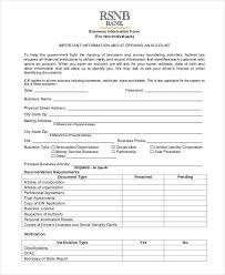 business information sheet template business forms 8 free word pdf