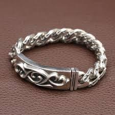 man sterling bracelet images New vintage 925 silver bracelet sterling silver lucky symbol link jpg