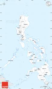Map Of Phillipines Silver Style Simple Map Of Philippines