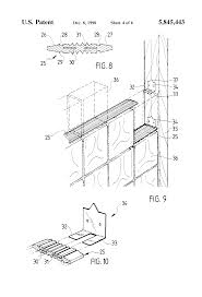 patent us5845443 glass block fire wall google patents