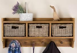 storage unit with wicker baskets basket storage unit with coat hooks my web value