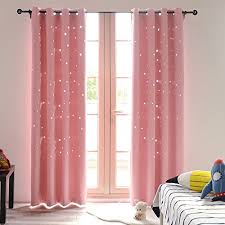 Baby Pink Curtains Buzio Twinkle Room Curtains 2 Panels Thermal Insulated