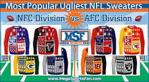 nfl sweaters most popular ugliest nfl sweaters mega sports fan