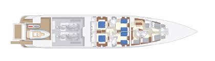Luxury Yacht Floor Plans by Amore Mio 45m Alu Heesen Yachts