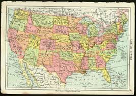 us map for sale map usa vintage major tourist attractions maps