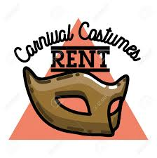 rent carnival color vintage carnival costumes rent emblem royalty free cliparts