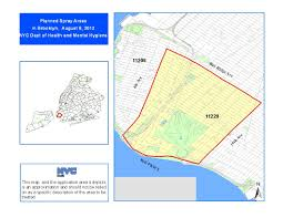 Staten Island Zip Code Map by West Nile Virus Spray 2012