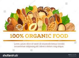 id d o cuisine organic food made nuts vegetarian stock vector hd royalty