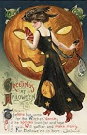 amazon com vintage halloween poster made from circa 1910 postcard
