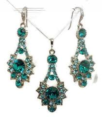 turquoise bridal earrings peacock teal turquoise bridal party jewelry set deco earrings