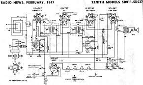 zenith models 5d011 5d027 schematic u0026 parts list february 1947