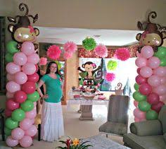 monkey baby shower ideas girl monkey baby shower party decor by chic unique