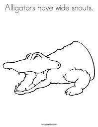 alligators wide snouts coloring twisty noodle