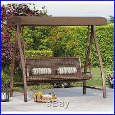 patio swing canopy wicker rattan patio furniture outdoor bench