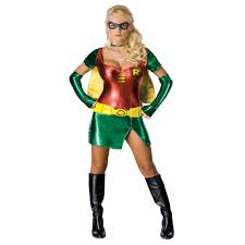 ladies female robin batman sidekick dc comics fancy dress