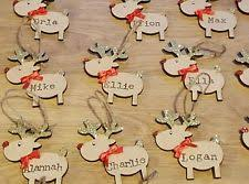 Personalised Metal Christmas Tree Decorations by Reindeer Decoration Ebay