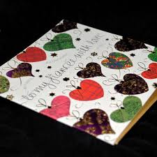 to my fiancée hearts christmas card karenza paperie