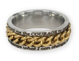 chain rings gold images Chain ring in gold serenity prayer jpg