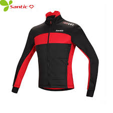 windproof cycling jackets mens santic winter men s cycling jacket long sleeve fleece men windproof