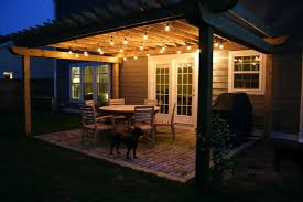 Outdoor Cafe Lighting by The Lowcountry Lady Goodbye Concrete Hello Reclaimed Brick Patio