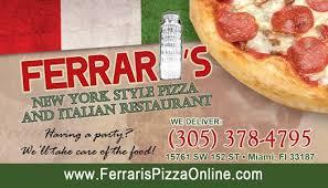 ferraris pizza pizzeria