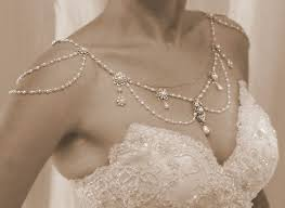 wedding jewelry necklace for the shoulders 1920 s backdrop necklace pearls