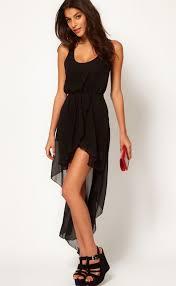 black high low dress dressed up