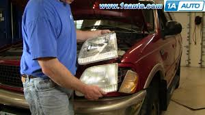 ford f150 headlight bulb how to install replace headlight ford f150 expedition 97 03 1aauto
