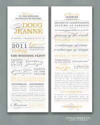 Wedding Programs Wording Examples Rochester Wedding Barn Splashconflate